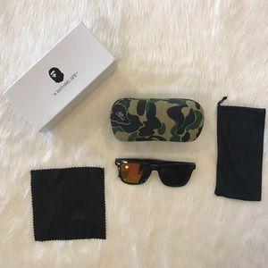 BAPE Camo sunglasses Bathing Ape w/ case & extras
